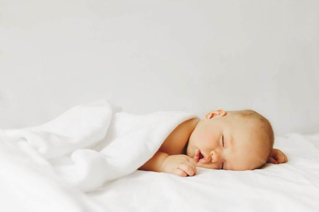 baby sleeps face down