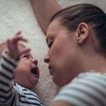 newborn wakes up screaming