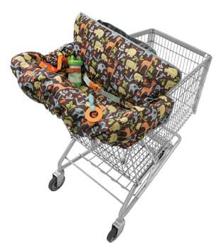 3. Infantino Compact 2-in-1 Shopping Cart Cover, Neutral