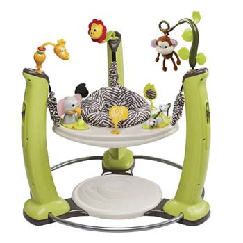 3. Best Baby Jumper with Pad - ExerSaucer Evenflo Jungle Quest Jumper