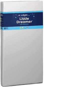 3. Moonlight Slumber Little Dreamer Dual Firmness Crib Mattress (FFP)