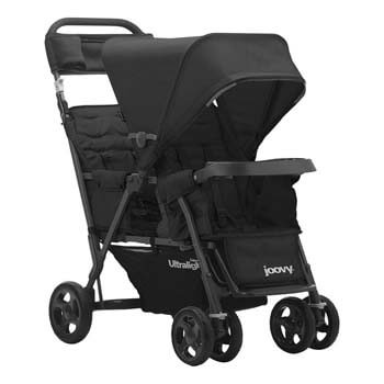 4. Joovy Caboose Too Ultralight Graphite Stand-On Tandem Stroller, Black