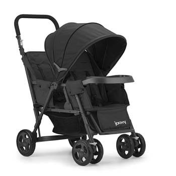 8. JOOVY Caboose Too Graphite Stand-On Tandem Stroller, Black