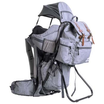 7. ClevrPlus Urban Explorer Child Carrier Hiking Baby Backpack, Heather Gray
