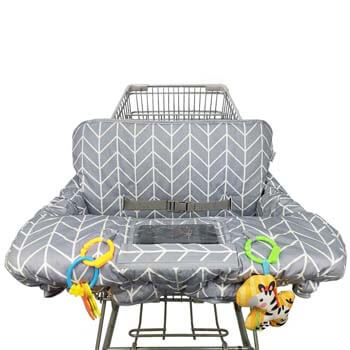 2. ICOPUCA Shopping Cart Cover for Baby Cotton High Chair Cover