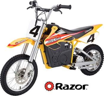 3. Razor MX650 Rocket Electric Motocross Bike