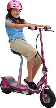 8. Razor E300S Seated Electric Scooter - Sweet Pea
