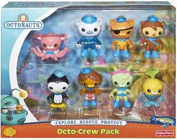 3. Fisher-Price Octonauts Octo-Crew 8 Figure Pack