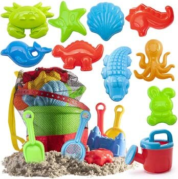 5. Prextex 19 Piece Beach Toys Sand Toys Set