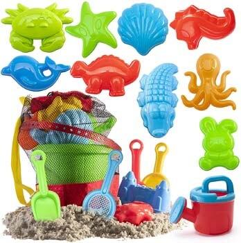 5. Prextex 19 Piece Beach Toys Sand Toys Set