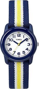 3. Timex Boys Time Machines Analog Elastic Fabric Strap Watch