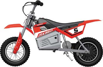 6. Razor MX350 Dirt Rocket Kids Ride On 24V Electric Toy Motocross Motorcycle Dirt Bike