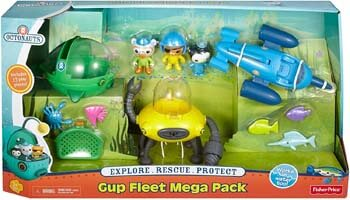 2. Fisher-Price Octonauts Gup Fleet Mega Pack
