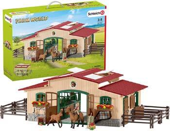10. Schleich Farm World Stable