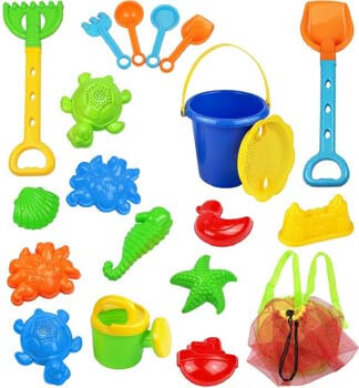 1. Click N Play 18Piece Beach Sand Toy Set
