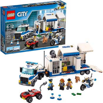 3. LEGO City Police Mobile Command Center Truck 60139 Building Toy