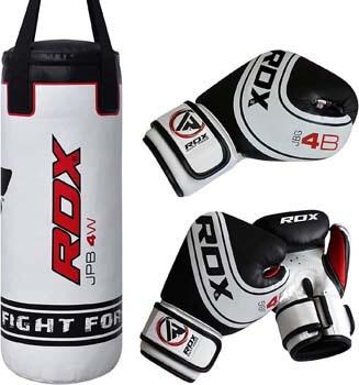 9. RDX Kids Punching Bag Heavy Boxing 2FT UNFILLED MMA Punching Training Gloves Kickboxing