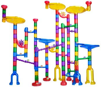 2. Meland Marble Run - 122Pcs Marble Maze Game Building Toy