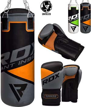 10. RDX Kids Punch Bag UNFILLED Set Junior Kick Boxing