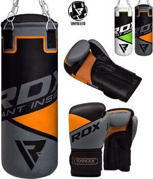 10. RDX Kids Punch Bag UNFILLED Set Junior Kick Boxing
