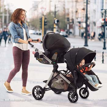 10. Evenflo Pivot Xpand, Single-to-Double Convertible Baby Stroller