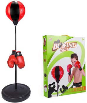 6. ToyVelt Punching Bag For Kids Boxing Set