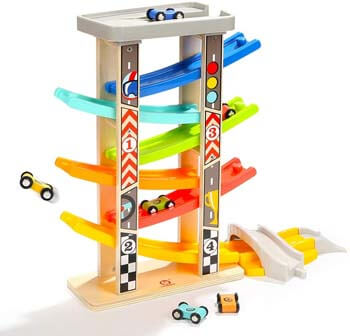 2. TOP BRIGHT Toddler Car Track Toys