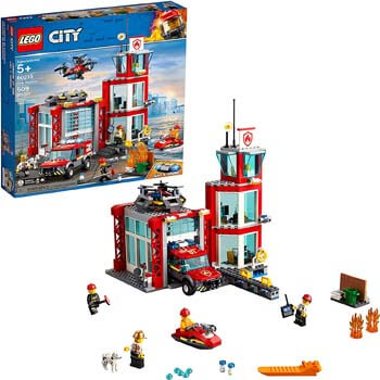 2. LEGO City Fire Station 60215 Fire Rescue Tower Building Set