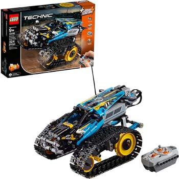 7. LEGO Technic Remote-controlled Stunt Racer 42095 Building Kit (324 Pieces)
