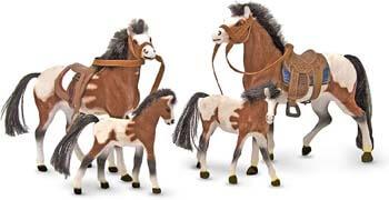 3. Melissa & Doug Collectible Horse Family Play Set