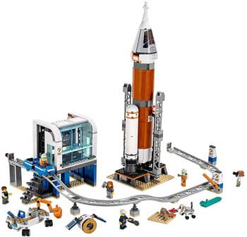 5. LEGO City Space Deep Space Rocket and Launch Control 60228 Model Rocket Building Kit