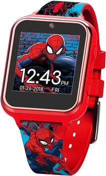 5. Marvel Boys' Touch-Screen Watch with Silicone Strap, red, 19.5 (Model. SPD4588AZ)