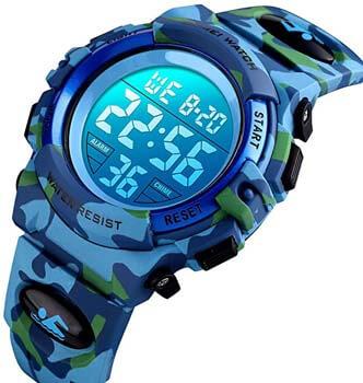 7. Kids Digital Watch Outdoor Sports 50M Waterproof Electronic Watches