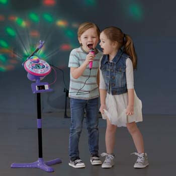 1. VTech Kidi Star Karaoke Machine, Pink/Purple