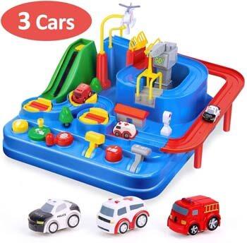 10. CubicFun Race Tracks for Boys Car Adventure Toys