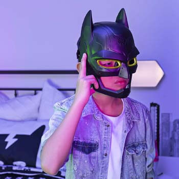 4. BATMAN Voice Changing Mask with Over 15 Sounds, for Kids Aged 4 and Up