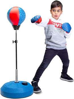 3. Tech Tools Punching Bag for Kids, Boxing Set