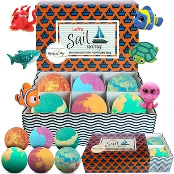 8. Mineral Me Kids Bath Bombs with Toys Inside