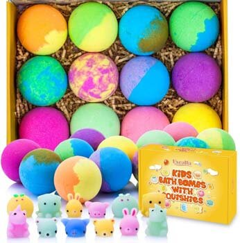9. Excalla Bath Bombs for Kids with Surprise Toys Inside