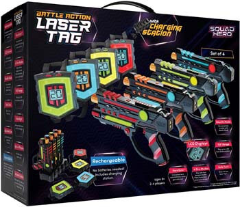 7. Squad Hero Rechargeable Laser Tag Set + Innovative LCDs and Sync – Laser Tag