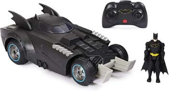 3. BATMAN Launch and Defend Batmobile Remote Control Vehicle with Exclusive 4-inch Action Figure