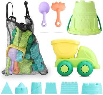 3. TOY Life Sand Toys for Kids - 10 Beach Toys