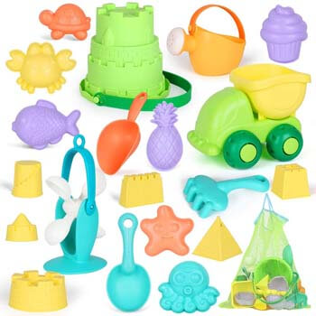 8. GobiDex Ready Beach Bag, 20 Funky Beach Sand Toys Set