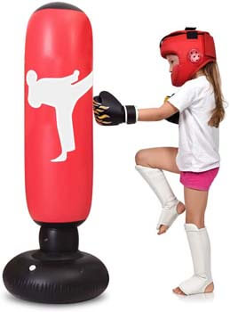 7. TUOWEI Kids Punching Bag, Inflatable Punching Bag