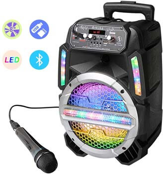 7. Ankuka Bluetooth Karaoke Machine