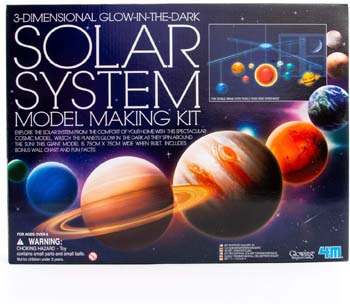 5. 4M 3D Glow-in-the-Dark Solar System Mobile Making Kit