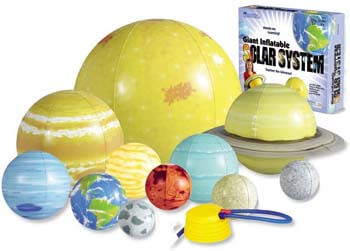 4. Learning Resources Giant Inflatable Solar System, 13 Pieces, 8 Planets, Grades K+/Ages 5+