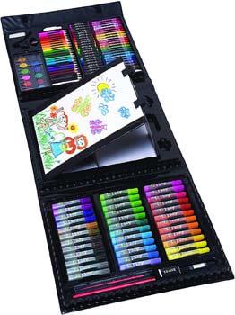 6. Art 101 USA Budding Artist 154 Piece Junior Artist Trifold Easel Art Set, White