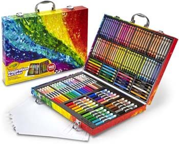 1. Crayola Inspiration Art Case Coloring Set, Gift for Kids, 140 Art Supplies