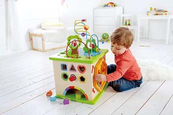 1. Country Critters Wooden Activity Play Cube by Hape
